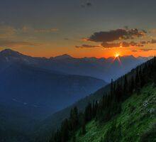 High Glacier Sunset by Dave Hampton