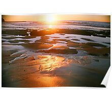 red gold sandy morning Poster