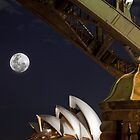 Good Old Sydney Town in colour (with a moon stripped in) by fatdade
