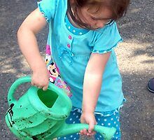 Brianna the little helper :) by Christie  Moses
