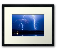 Lightning Thunderstorm 08.05.09 Framed Print