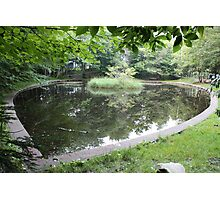 Heart-shaped Pond Photographic Print