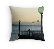 Sunset on Elliott Bay Throw Pillow
