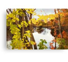 Grand River  /  Autumn in Michigan Canvas Print