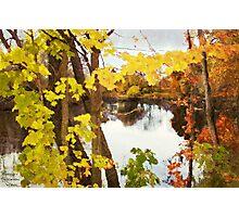 Grand River  /  Autumn in Michigan Photographic Print
