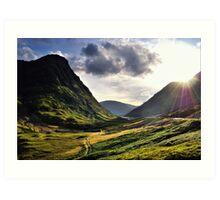 Sundown in Glencoe Art Print