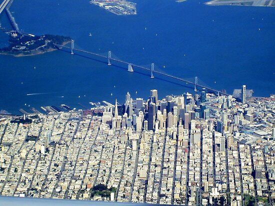 san francisco from the air by igor pozdnyakov redbubble. Black Bedroom Furniture Sets. Home Design Ideas
