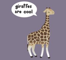 Giraffes are cool Kids Clothes