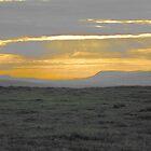Sunset near Sumburgh (Shetland) by John Bromley