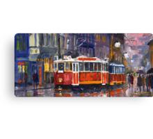 Prague Old Tram 09 Canvas Print