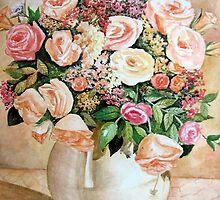 Pot of Roses by shagufta