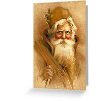 Old World Santa Greeting Card