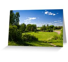 The House in suburb. Greeting Card