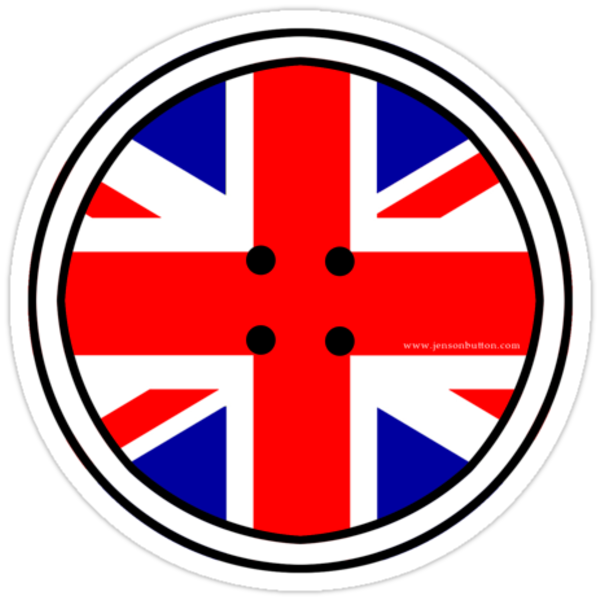 Jenson BUTTON Union Jack by Jonathan Carre