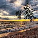 cloudy sunset by Cheryl Dunning