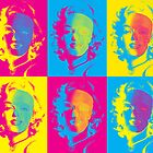 Marilyn's Pop Death in Cyan, Yellow and Magenta by Guilherme Pontes