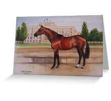 Blind Justice, stallion Greeting Card