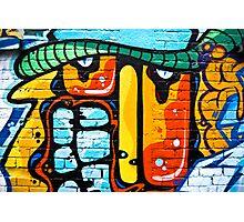 Abstract graffiti on the brick wall Photographic Print