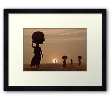 NEW MORNING Framed Print