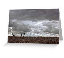 Cley Beach, North Norfolk, UK Greeting Card