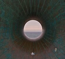 Looking through The Big Green Bagel by SpencerCopping
