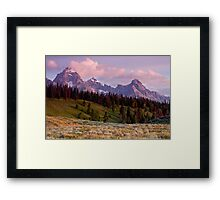 The Grand, Teewinot, and Mt. Owen... the Tetons Framed Print