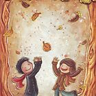 Catching Leaves by Ine Spee
