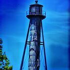 Old Lonely Lighthouse Tower by Trudy Wilkerson