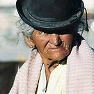 A characteristic signature hatted woman of Bolivia by LeighBlake