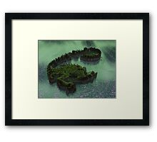 """Planet """"Gloss""""01: Aerial Approach (Collaboration with Owlspook) Framed Print"""