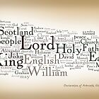 Declaration of Arbroath by Wordigrams