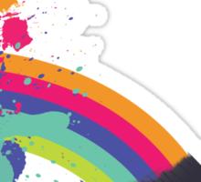 paint a rainbow Sticker