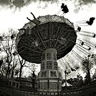 Merry-go-round through the fisheye lens by PhotomasWorld