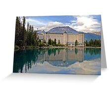 THE CHATEAU AT LAKE LOUISE, ROCKY MTS, CANADA Greeting Card