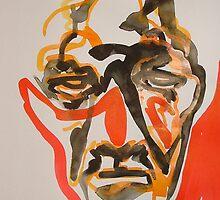 Ink Brush Portrait 16 by Josh Bowe