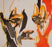 Ink Brush Portrait 17 by Josh Bowe