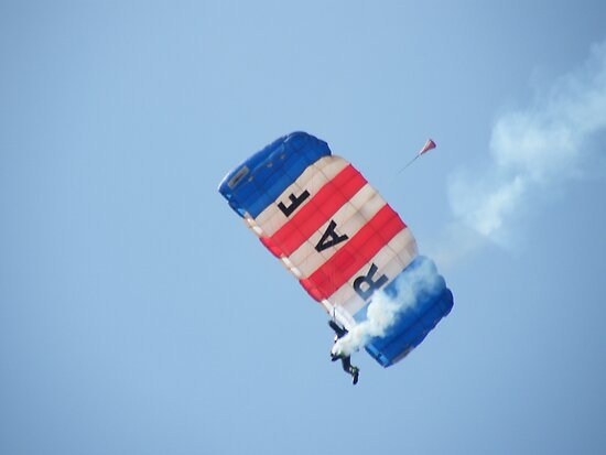 The RAF Falcons Freefall Parachute Display Team 2 by Laura Kelk