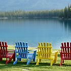 Chairs by the Lake by cambray