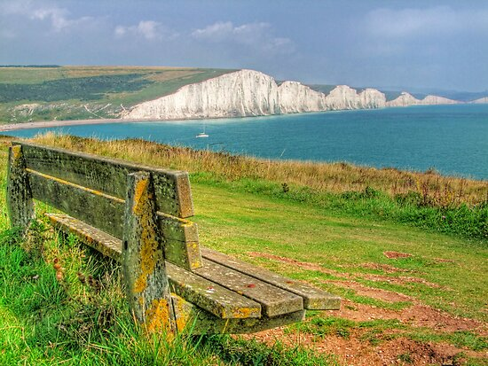 Bench and Seven Sisters - HDR  by Colin J Williams Photography