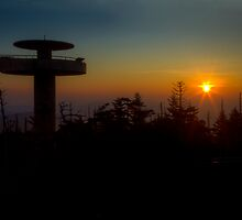 3927 - Clingmans Dome At Sunrise by Ray Mosteller