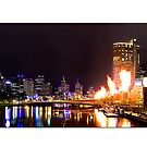 Melbourne Skyline by Kirk  Hille