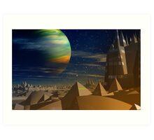 Pyramidia. Art Print