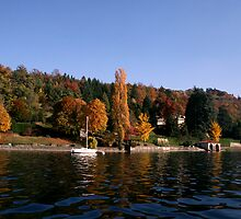 Fall Palette on Orta Lake  by sstarlightss