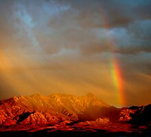 Santa Rita Sunset Rainbow by David F Putnam