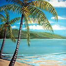 Palm Trees - Seascape by  Linda Callaghan