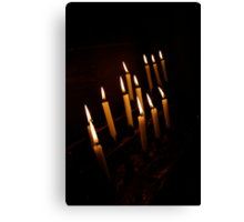 Cathedral Candles Canvas Print
