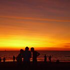 darwin sun set beach by chrisblackwell29