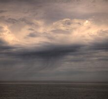 Rain Sweeping Across Lake Superior by Philip Rolfe