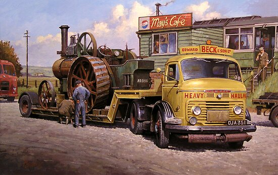 May's transport cafe. by Mike Jeffries