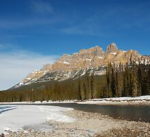 Castle Mountain in Winter by dnsphotography